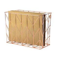 AmazonSmile : U Brands Hanging File Desk Organizer, Wire Metal, Copper : Home & Kitchen