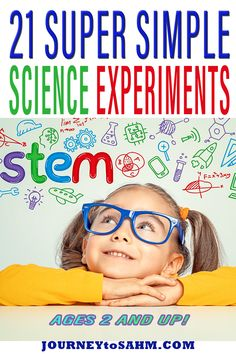 Science is so important to start teaching your kids in early childhood. It can be hard to find very simple science experiments for kids that encourage education, STEM, STEAM, and even engineering activities. Some of these science activities are messy enough to do them outdoors for easy cleanup, while some are so easy to do at home on a rainy day inside. | Journey to SAHM @journeytosahm #STEM #STEAM #sciencefun #scienceprojects #homeschooling #Montessori #indoorfun #educationalfun… Easy Science Experiments, Science Activities For Kids, Montessori Activities, Stem Activities, Science Projects, Toddler Activities, Kid Science, Science Chemistry, Stem Science