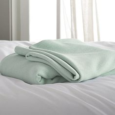 Siesta Seafoam Blanket  | Crate and Barrel