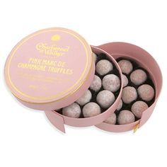 $18 Pink Marc de Champagne Truffles