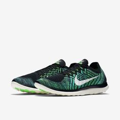 quality design e7da3 ff829 Nike Free 4.0 Flyknit Black Voltage Green Lucky Green Sail Style    717075-013