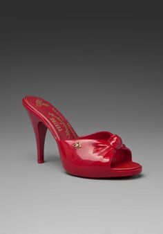 MELISSA + Vivienne Westwood Mule Heel in Red at Revolve Clothing - Free Shipping!