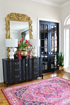 Why choosing to use black interior doors in your home can make your space feel brighter and more chic in any room of your home via Black Interior Doors, Black Doors, Spring Home, Interior Design Tips, Interior Styling, French Doors, Minimalism, Sweet Home, New Homes