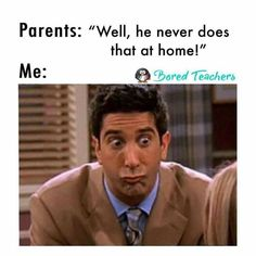 More of the Funniest Teaching Memes Around! - School Funny - School Funny meme - - funny teaching meme about parent teacher interviews The post More of the Funniest Teaching Memes Around! appeared first on Gag Dad. Bored Teachers, Parents As Teachers, Funny Teachers, Funny Teacher Jokes, Education Humor, Education Quotes For Teachers, Preschool Teacher Quotes, Teacher Sayings, Best Teacher Quotes
