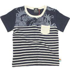 KRIFF MAYER(クリフメイヤー):ウェーブボーダーTシャツ ネイビーボーダー(2) の通販【ブランド子供服のミリバール】