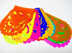Buy one and get one FREE, Mini Mexican banner, Aztec home decor, tribal, papel picado banner, decoration, Mexican themed party decor.