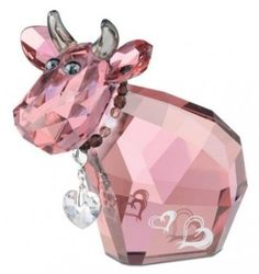 Swarovski 1089201 Charming Mo Limited 2011 Edition >>> Check out the image by visiting the link. (This is an affiliate link and I receive a commission for the sales) Glass Figurines, Collectible Figurines, Swarovski Crystal Figurines, Swarovski Crystals, Cut Glass, Glass Art, Purple Cow, Glass Animals, Glass Design