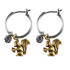 Glam up your Autumn & Winter wardrobe with this adorable pair of Hultquist Jewellery squirrel gold and silver Hoop earrings with diamond crystal.http://www.lizzielane.com/product/hultquist-jewellery-squirrel-gold-and-silver-hoop-earrings-with-diamond-crystal/