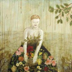 ⊰ Posing with Posies ⊱ paintings of women and flowers - Anne Siems
