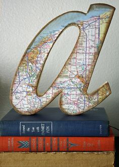 decorative map letter