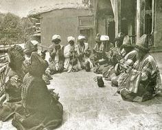 Photo by #Antoin #Sevruguin, in the 1870s, depicting a group of #Persian #Sufis engaged in #prayer.  #Islam
