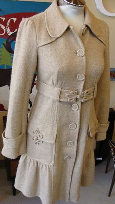 NANETTE LEPORE sparkle gold trench sweater dandy coat