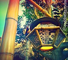 This lamp is from Adventureland in Disneyland. Tiki Art, Tiki Tiki, Tropical Backyard, Backyard Bar, Tiki Lights, Tiki Head, Earthship Home, Tiki Bar Decor, Bamboo Light