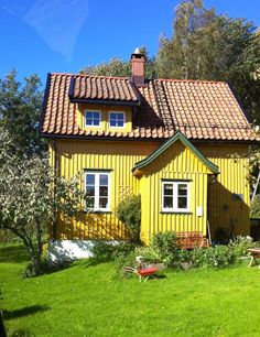 Yellow cottage