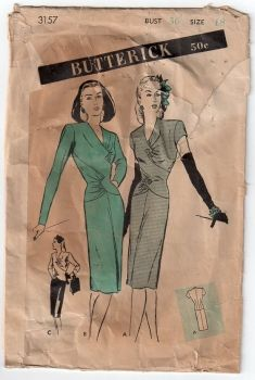 1940s Cocktail Dress Pattern