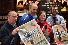 Weatherspoons  (the Humphrey Bean) Tonbridge unveiled their poppy pride beer