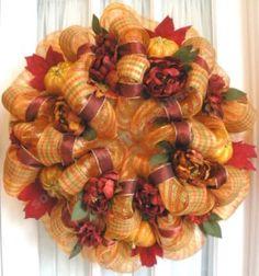 fall decomesh wreaths