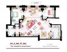 Immo fun: de plattegrond van Carrie Bradshaws appartement