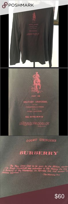 Burberry London Brown Long Sleeve Tshirt Burberry London Brown Long Sleeve Tshirt.  Gently loved in good condition. Burberry Tops Tees - Long Sleeve