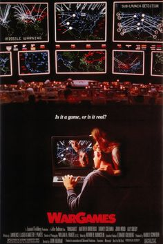 "'Juegos de Guerra' de 1983 y dirigida por John Badham. ""A strange game, the only winning move is not to play"" 80s Movies, Great Movies, Movies To Watch, Awesome Movies, Iconic Movies, Action Movies, Love Movie, Movie Tv, Movie List"