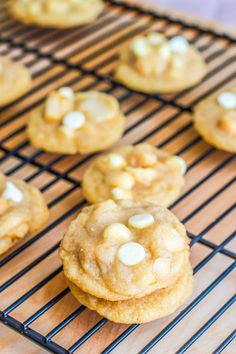 Super Soft and Chunky white chocolate macadamia nut cookies.