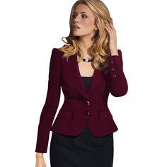0d9d60cfb5f Hot Blazer Feminino Plus Size Women Blazers And Jackets Slim Fit Suit  Blazer Office Lady Blazer black Coat White Blaser Mulheres