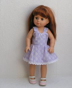 Robe à bretelle pour poupée type Soy Tu de Paola Reina : Jeux, jouets par laines-et-tissus