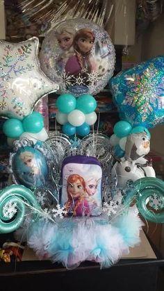 Disney Frozen Centerpiece Disney Frozen Centerpieces, Frozen Birthday Party, Hanukkah, Wreaths, Wedding, Decor, Fiestas, Valentines Day Weddings, Decoration