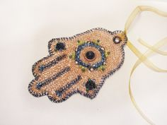 Hamsa by FestiJe #decor #crochet #beaded