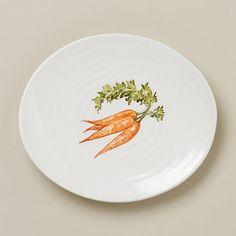 Garden Fresh Side Plate, Carrot