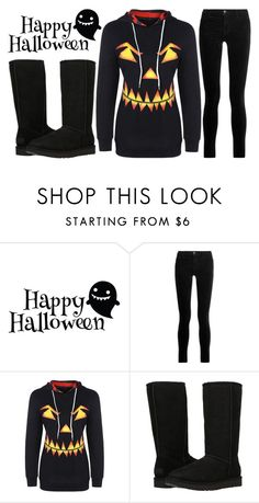 """""""happy Halloween...."""" by j-n-a ❤ liked on Polyvore featuring J Brand and UGG Australia"""