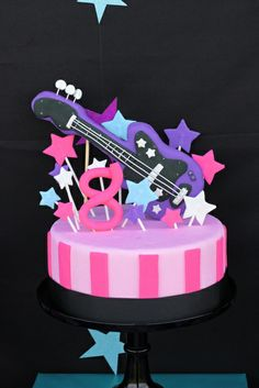 Cake at a Rockstar Party #rockstar #partycake