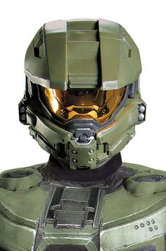 Master Chief Adult Full Helmet #halo #videogames #xbox #Halloween #costumes #gamers