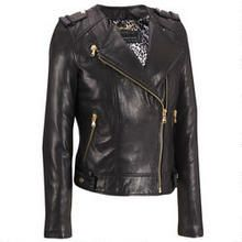 Plus Size Wilsons Leather Contemporary Collarless Leather Cycle Jacket