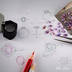 #JewelrySketch #Rings #Sapphires #WhiteGold #Diamonds #FromStartToEnd…