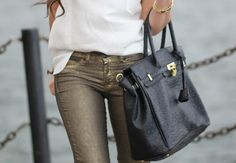 I love this girl's jeans. And her bag.