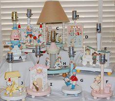 Vintage Irmi Nursery Lamps 1950 1980 Germany