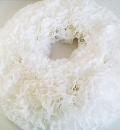 Coffee filter wreath DIY
