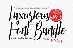 Luxurious Font Bundle by Font & Graphic Land on @creativemarket