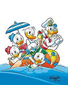 Andrea Freccero Disney Magic, Disney Mickey, Disney Art, Mickey Mouse E Amigos, Mickey Mouse And Friends, Disney Fantasy, Pato Donald Y Daisy, Donald Duck, Tweety