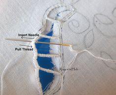 Cutwork instructions