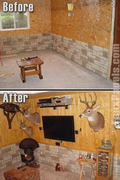 This is how my husband would do is man cave if he had 1.