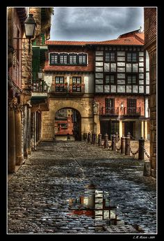 Hondarribia, in the province of Guipuzcoa, Euskadi (or Basque Country), on the north coast of Spain.