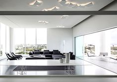 Layers of White   Penthouse Located in Tel Aviv white monochromatic living room