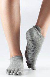 ToeSox Low Rise Full Toe Gripper Socks