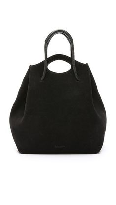 Love this slouchy suede number Pedro Garcia Convertible Bucket Bag