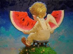 Victor Nizovtsev ( Viktor Nizovtsev ) Victor Nizovtsev is a masterful oil painter of theatrical figurative composition, fantasy, landscapes, and still life. Fantasy Kunst, Fantasy Art, Victor Nizovtsev, Ange Demon, Angel Art, Belle Photo, Art For Kids, Illustration Art, Drawings