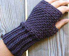 Fingerless Gloves, Fingerless Mittens, Crochet Arm Warmers, Driving Gloves in Charcoal Grey