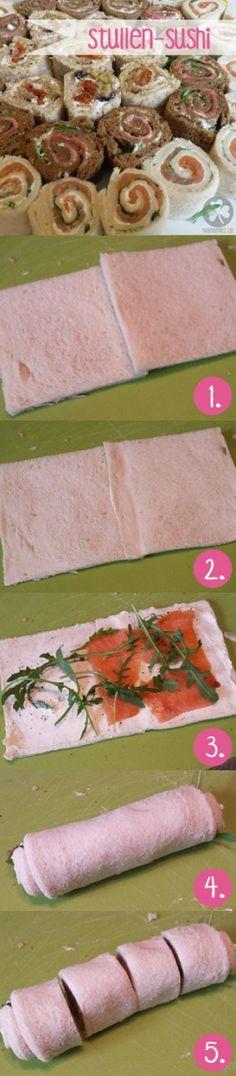 Stullen-Sushi für Party ud Brotdosen (Bento)