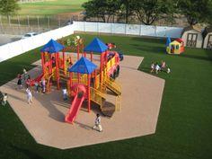 Dodge City Bright Beginnings Head Start Playground.  #synlawn